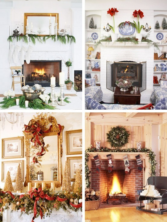 Natale decorazione caminetti